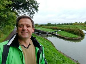 Ian Bayley, Proprietor of Sabrestorm Publishing, at The Kennet and Avon Canal.
