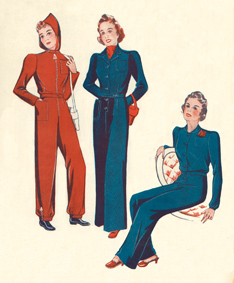 "Illustrations of Shelter Suits from Mike Browns Book ""The 1940s Look"""