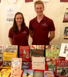 Casemate staff beside a range of Sabrestorm titles