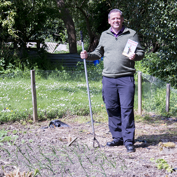 Having a go at growing vegetables with the help of the Allotment and Garden Guide